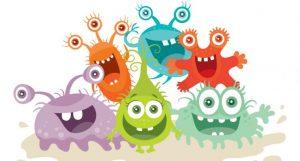 様々な細菌のイラスト