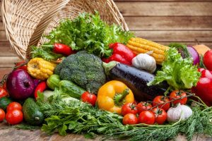 みずみずしいたくさんの野菜