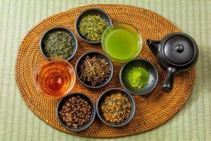 様々な種類のお茶