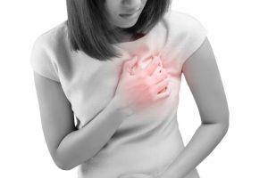 心臓が痛い女性