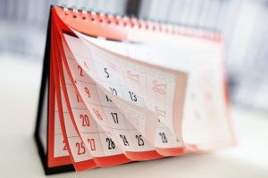 パラパラとめくれるカレンダー