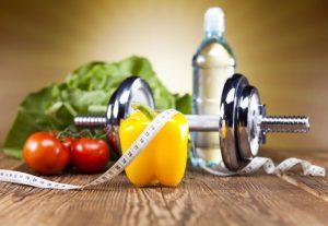 野菜とダイエット道具