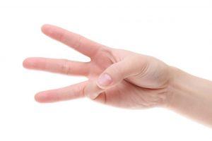 3本指の手