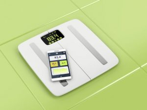 体重計と体重を管理するアプリ