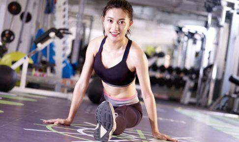 トレーニングをしている女性