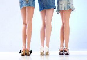 3人の綺麗な脚