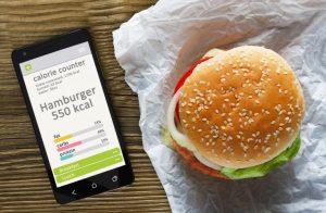 ハンバーガーと携帯