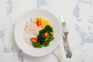 野菜とチキン
