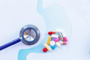 位に薬が溜まっている事を表現した画像