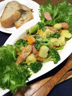 鍋ひとつ♪簡単過ぎる温野菜サラダ