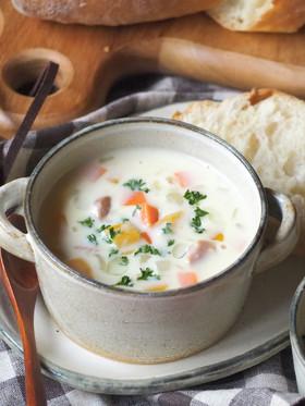 たっぷり野菜チャウダー✽(ミルクスープ)
