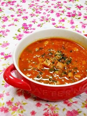 簡単キヌア料理☆野菜ジュースdeスープ
