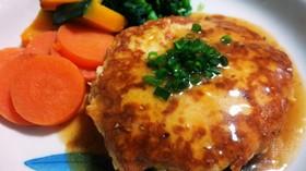 鶏むねひき肉*ふんわり豆腐ハンバーグ
