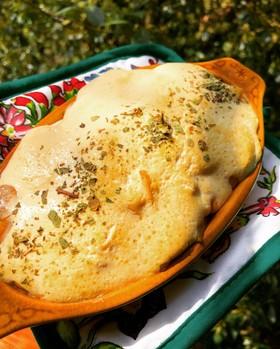 楽しくダイエット海老と法蓮草の豆腐ドリア