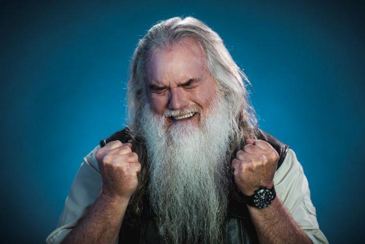 ひげが長いおじいさん