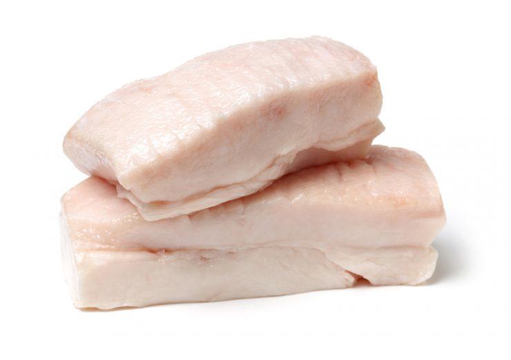 豚の白い油