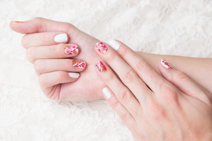 ピンク可愛い爪
