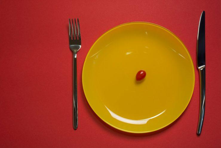 黄色のお皿