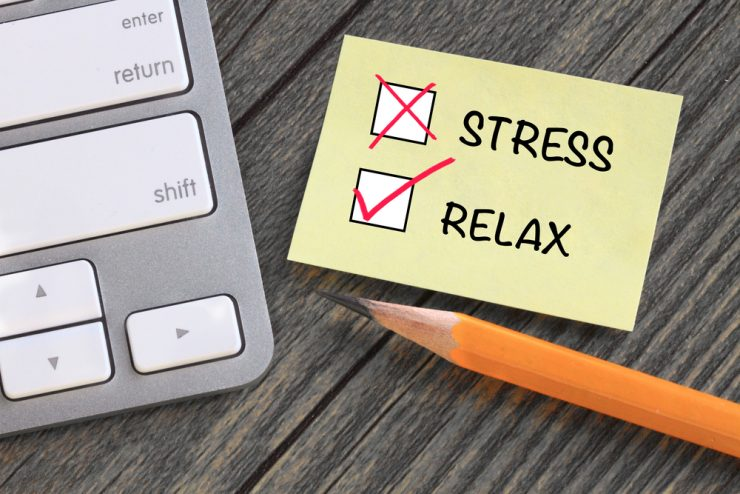 ストレスとリラックスのイラスト